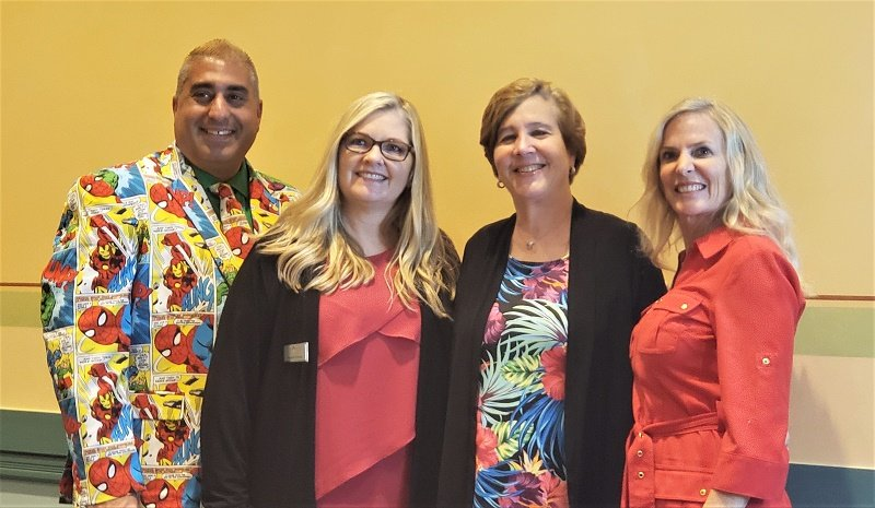 Nexion Travel Group executives, left to right, include Robbi Jumaa Hamida, Heather Kindred, Jackie Friedman and Cris de Souza.
