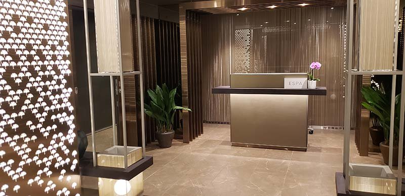 The entrance to the spa