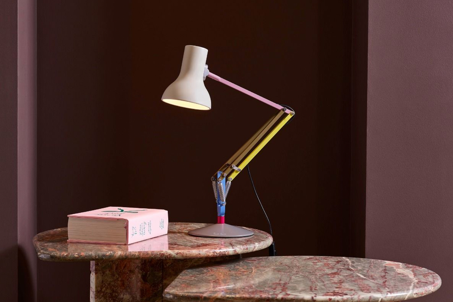 The Type 75 giant floor lamp comes in the color scheme from the very first collaboration, Edition One, and features bright hues.