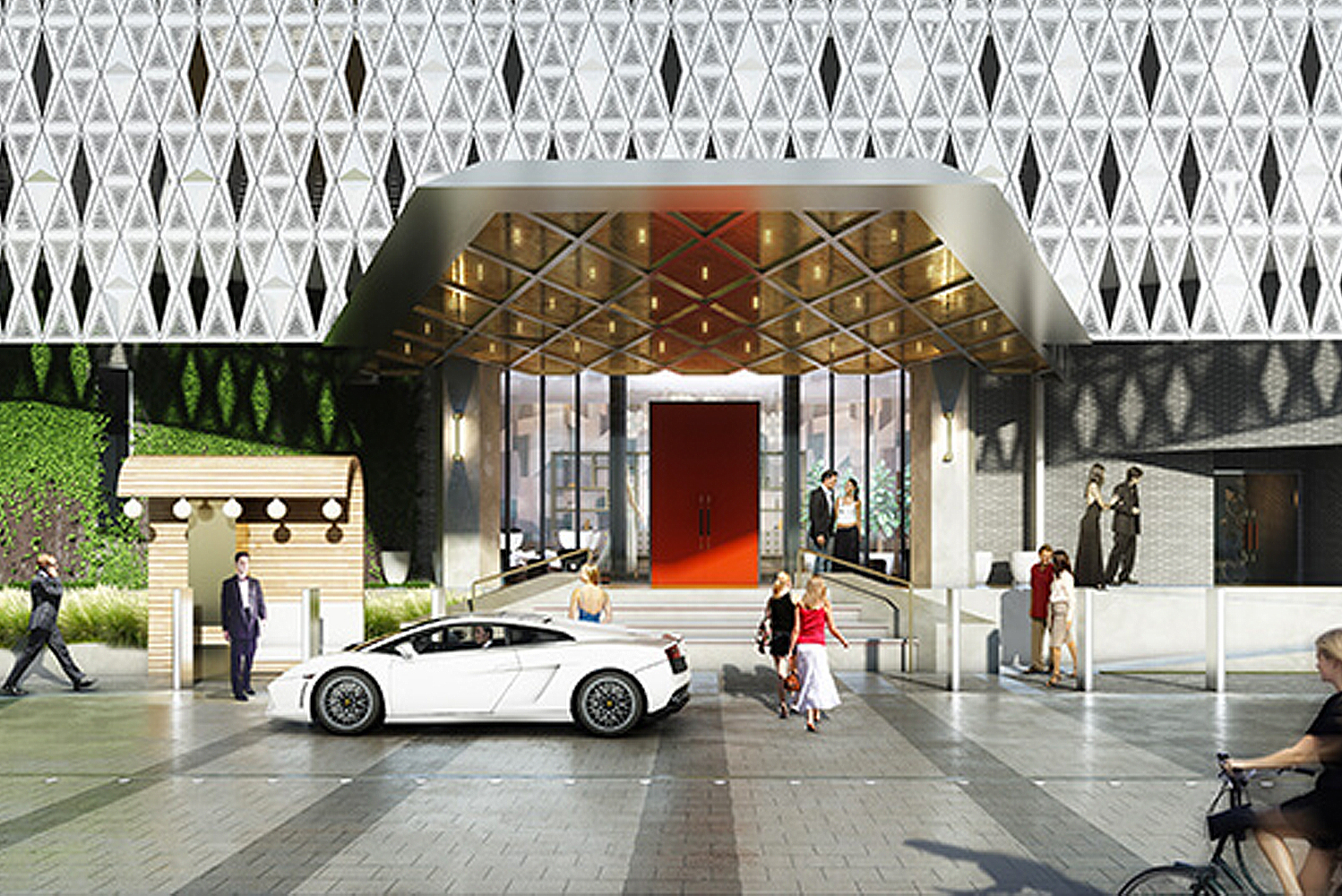 Virgin Hotels Dallas will have a Funny Library Coffee Shop, which will be located on the first level of the hotel. The coffee shop is a communal work space that will house an assortment of books and games.
