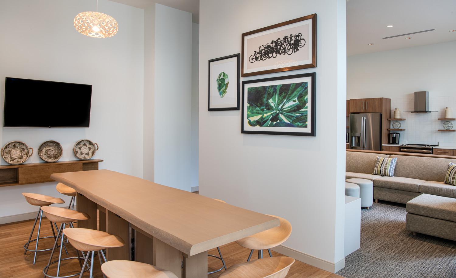The Studio Commons communal spaces range from 600 to 650 square feet.