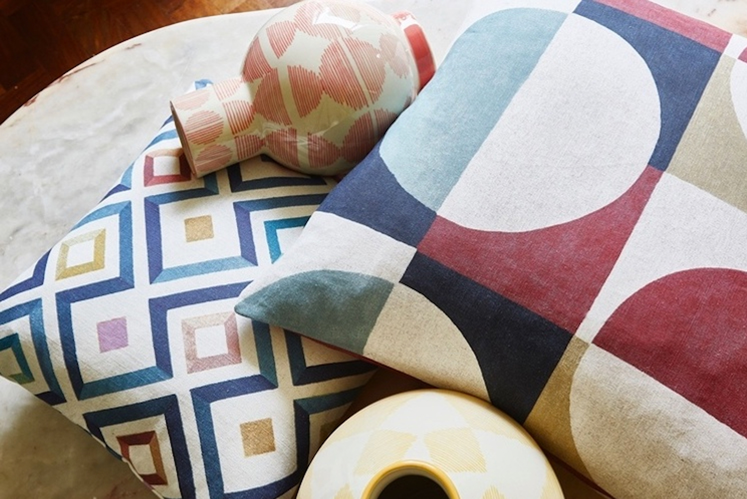U.K.-based textile firm Prestigious Textiles launched the Abstract collection.