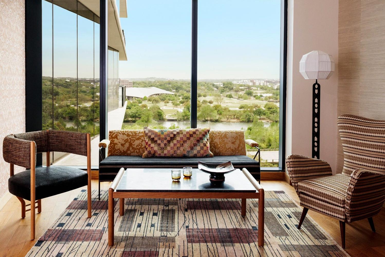 The property was designed by interior designer Kelly Wearstler.