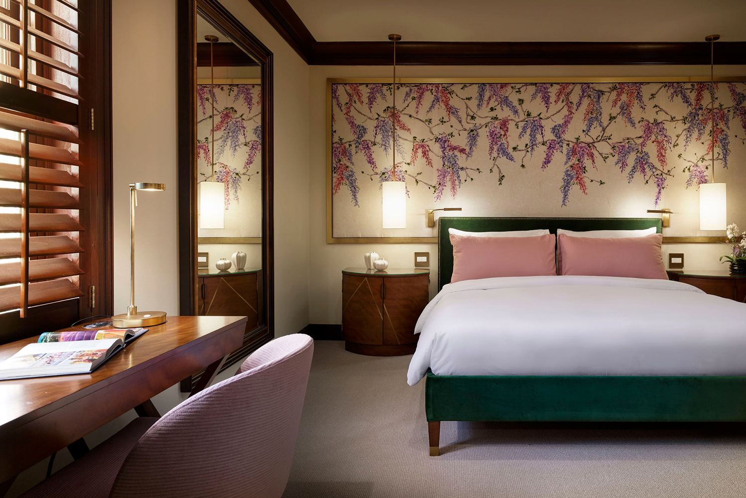 The new room style at Brazilian Court, which first opened in 1926, embodies a playful take on Palm Beach sophistication.