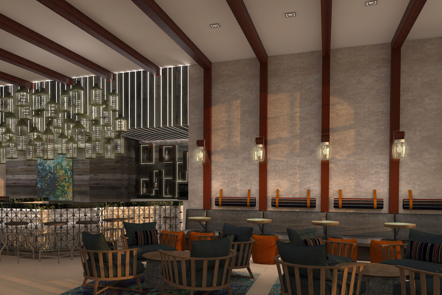 """Named """"Cotto"""", the venue on the ground floor will have indoor and outdoor seating with a trellis-covered courtyard."""