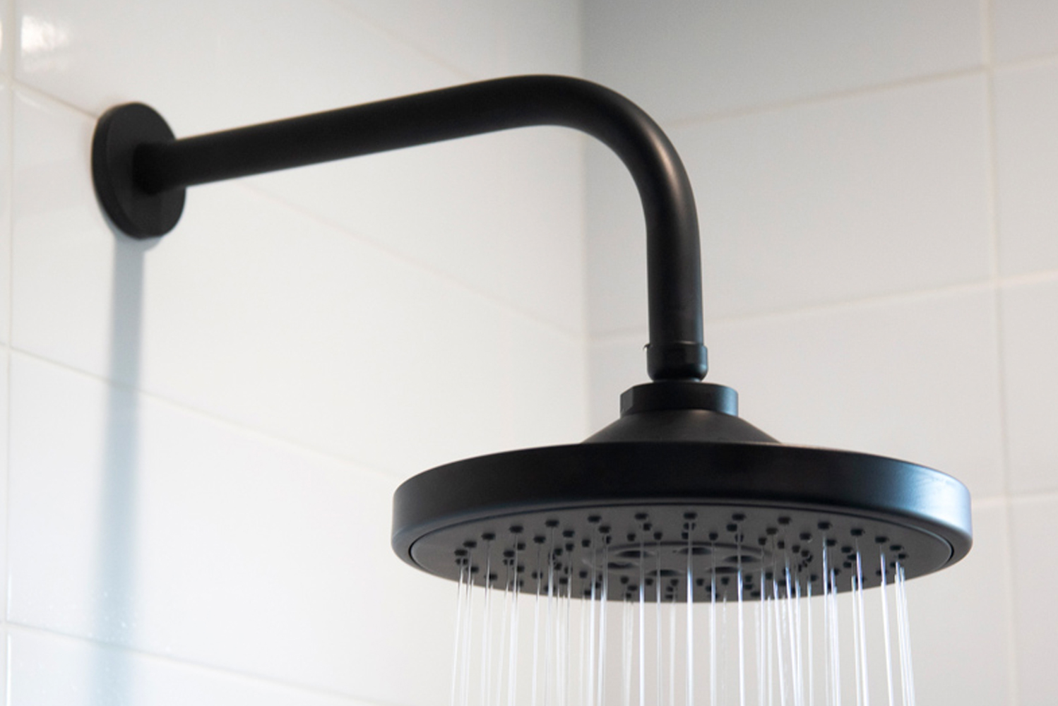 The Luxnetic showerhead is available in 27 finishes and constructed of solid brass.