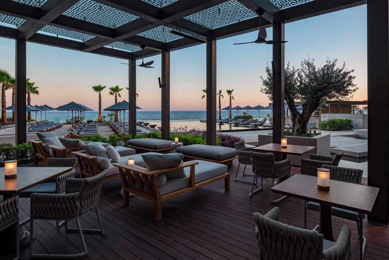Designed by SB Architects, the property is located near the historic Greek settlement of Amathus.