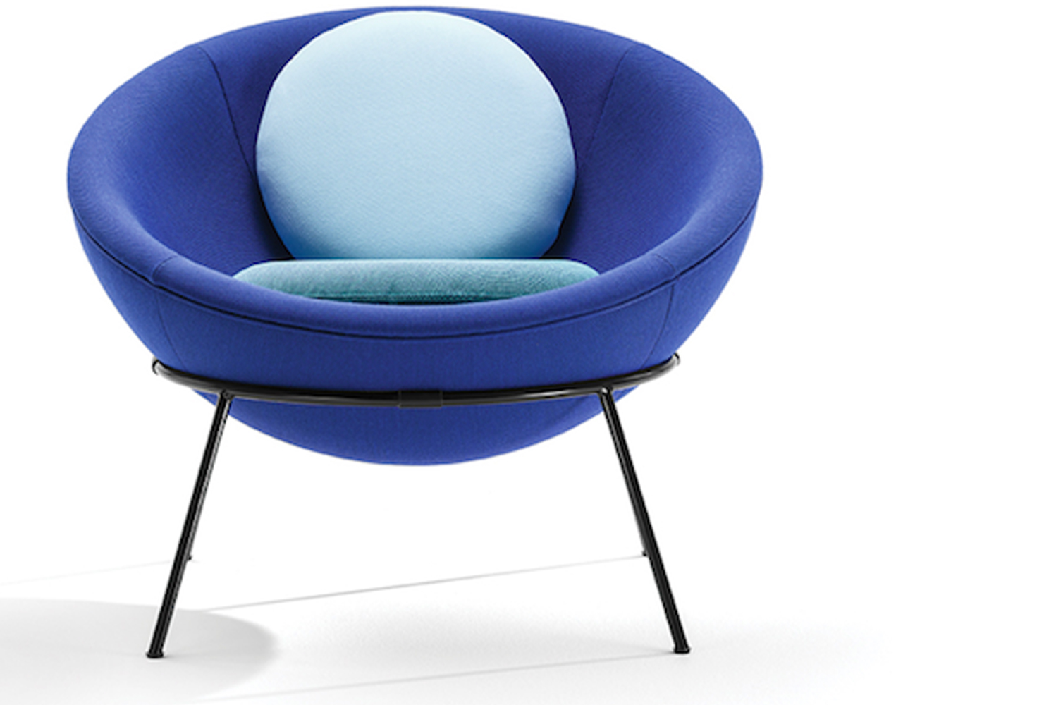 Arper announced three new shades of the Bowl chair.