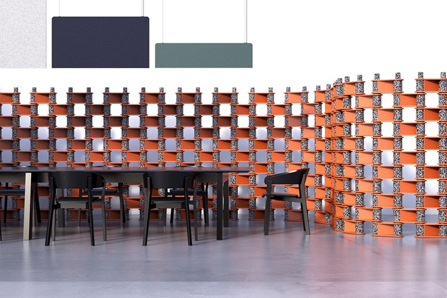 Brix by Luxxbox is a flexible system that creates partitions, walls and cubicles for privacy while reducing unwanted noise in open spaces.