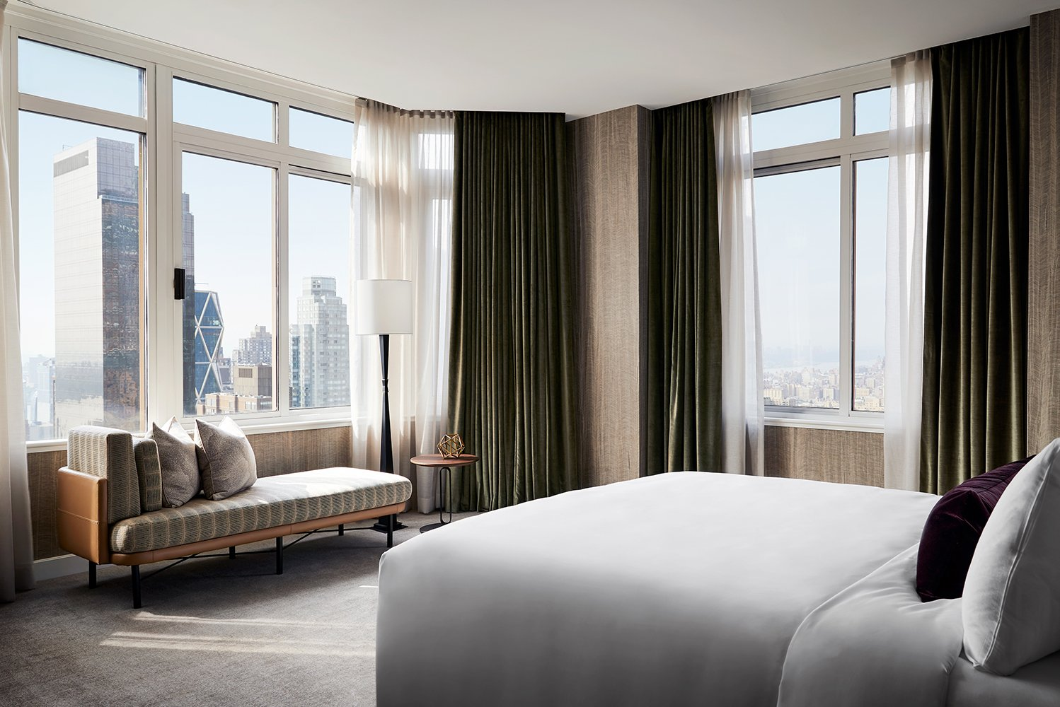 There are 13 premium suites in addition to over 500 hotel suites. Photo credit: Conrad New York Midtown/David Mitchell