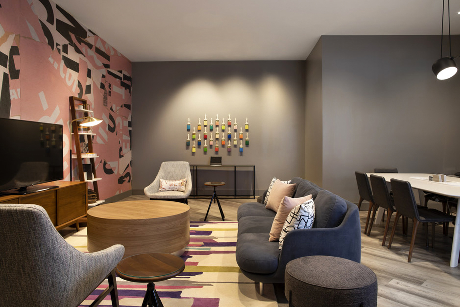 The hotel has design innovations developed for the Crowne Plaza Accelerate brand-transformation program.