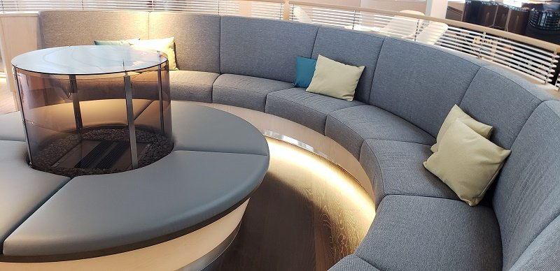 Seating in the Observation Lounge