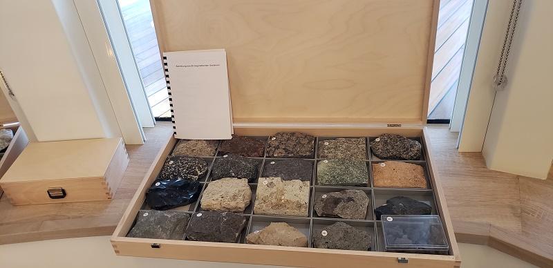 A geologic display in Ocean Academy