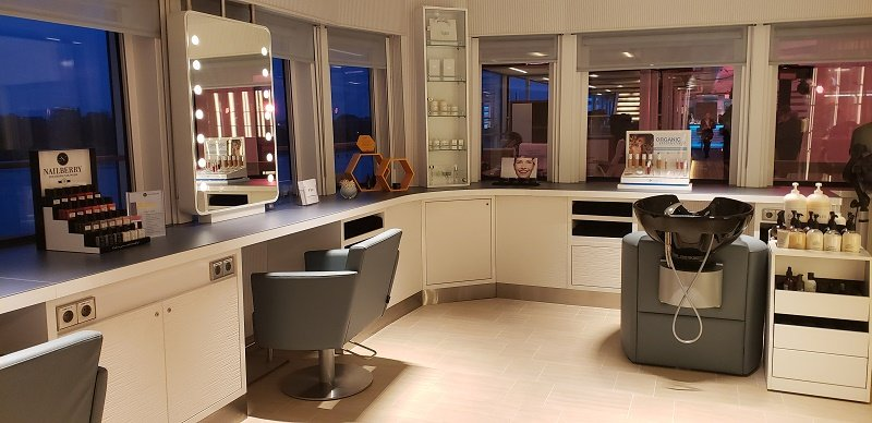 Ocean Spa's spacious hair salon