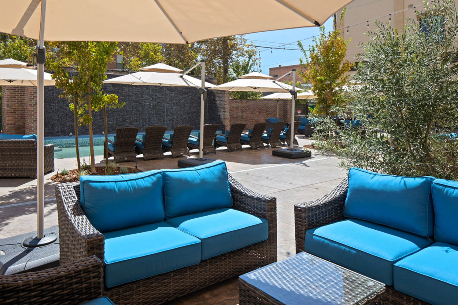 Hotel Winters has three dining options, including fine-dining restaurant Carboni's Ristorante, Bar and Market; Abbey's Rooftop & Lounge; Railroad Courtyard; and the Water Lounge.