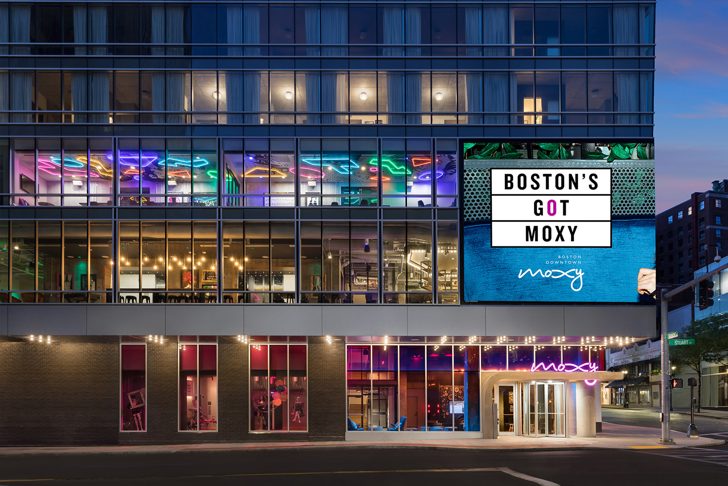 Located in the heart of Boston's Theater District, Moxy Boston Downtown opened as part of Marriott International's Moxy brand.