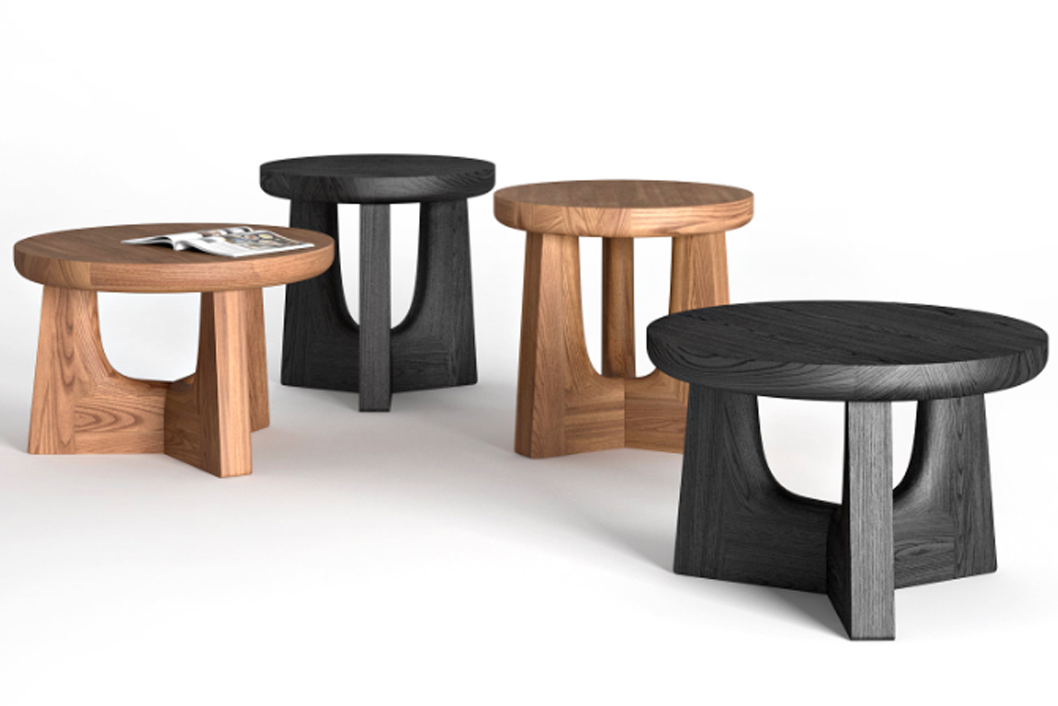 Designed by Jean-Marie Massaud, Nara is handcrafted by Italian artisans, conjoining its legs together to form a sturdy trefoil base.