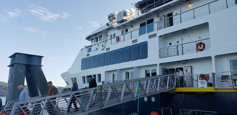 Lindblad Expeditions' National Geographic Venture docked at Juneau, AK. Photo by Susan J. Young