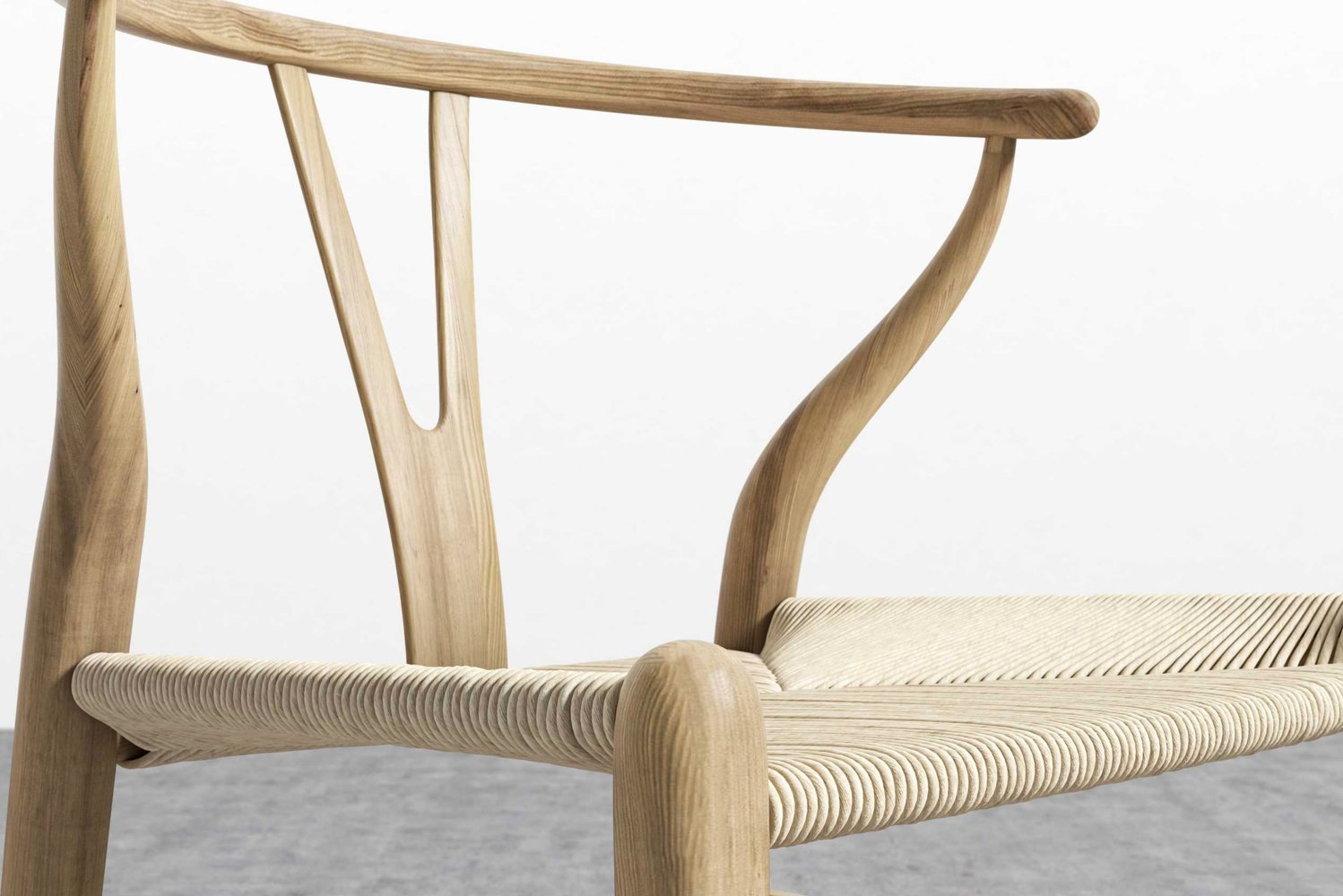 The chair uses FAS grade wood, treated with wood-wax oil and is VOC free.