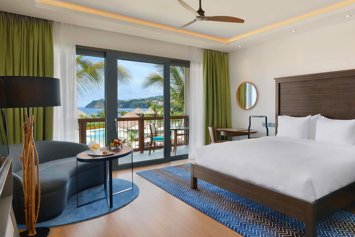 All of the resort's 151 guestrooms and suites have mountain or ocean views.