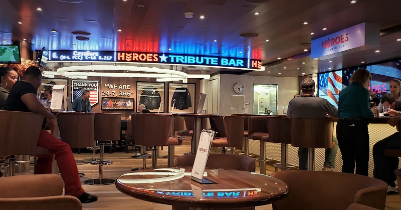 Heroes Bar was the idea of Carnival Cruise Line's President Christine Duffy. Photo by Susan J. Young