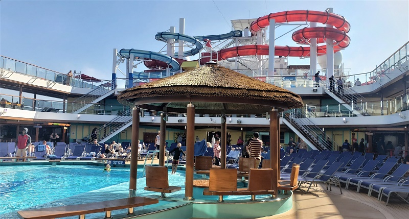 Pool Deck and WaterWorks on Carnival Panorama. Photo by Susan J. Young