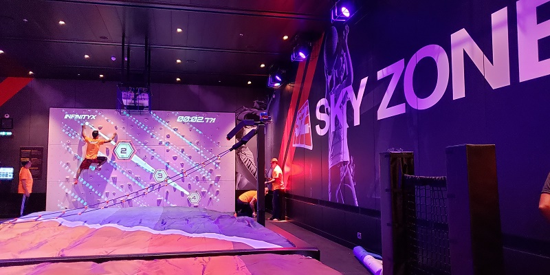 One new feature of Carnival Panorama, the third Vista-class ship, is Sky Zone. Photo by Susan J. Young
