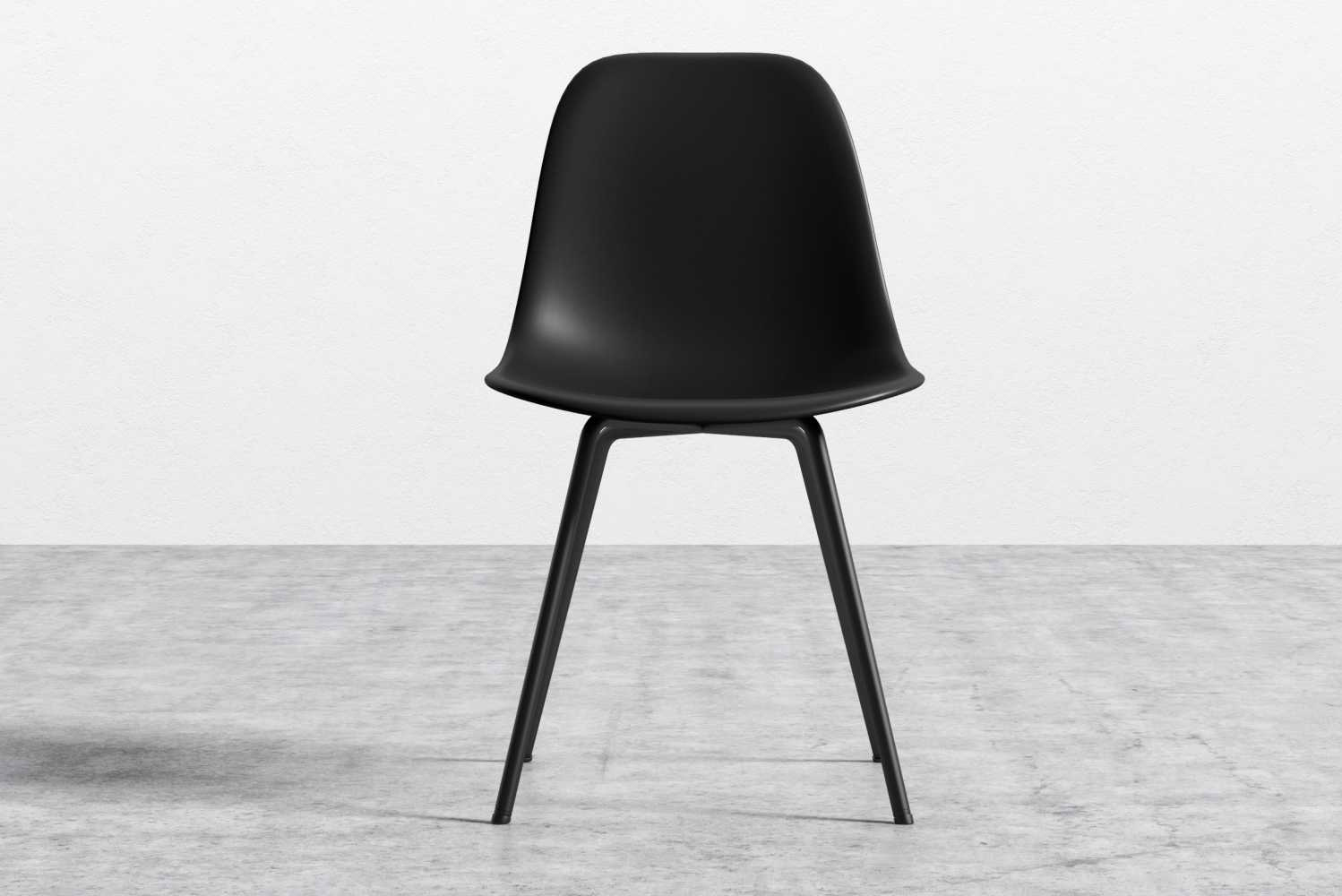 Introducing the Emilia chair from Rove Concepts, the sleek, luxurious version of the molded plastic DSR chair.