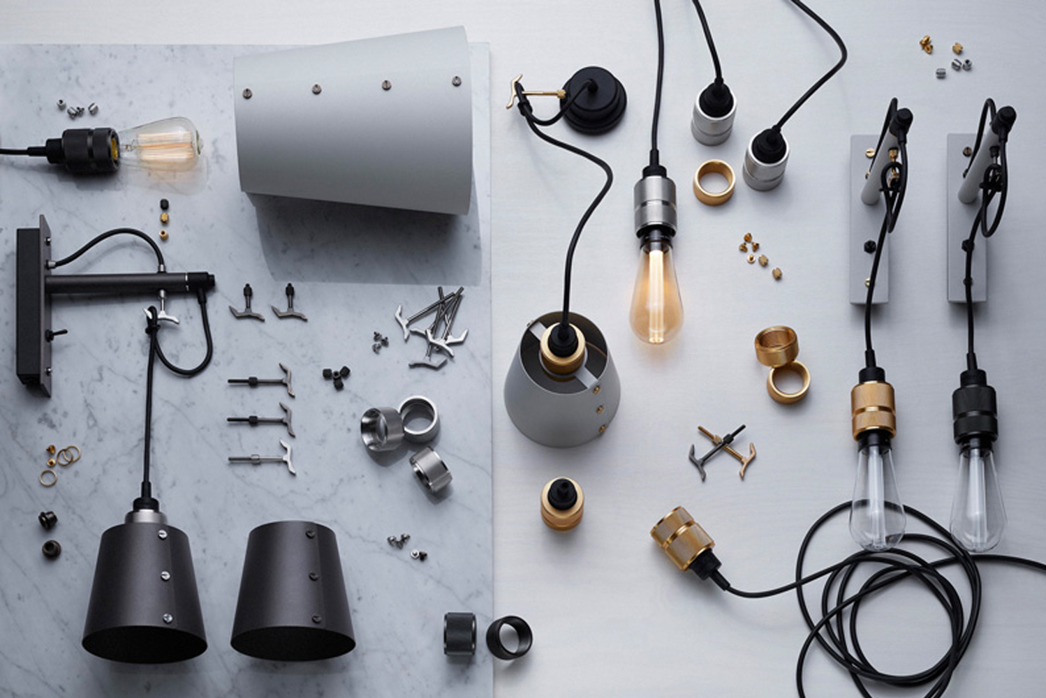 Introducing home fashion label Buster + Punch's fully customizable Hooked lighting collection, which features various configuration options to give the installer full control over the light's trajectory.