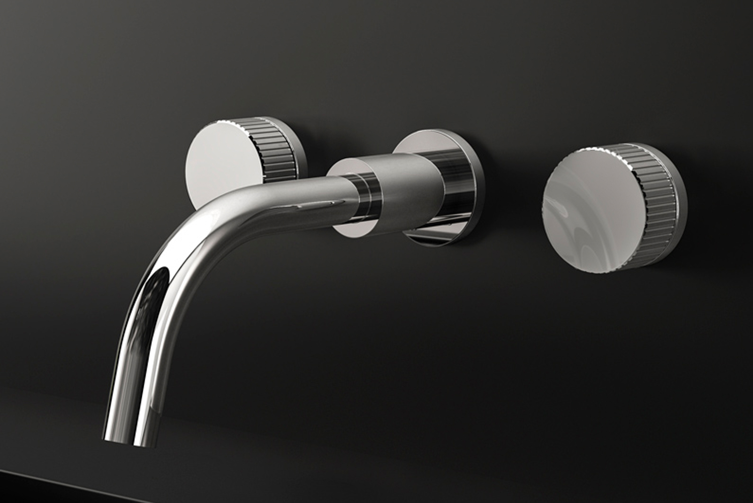 Tactile, multi-faceted and gem-like, these machine-patterned handles are available in multiple finishes.