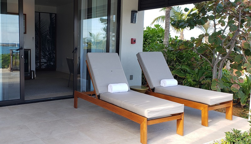 Entrance to one of the private cabanas at Silver Cove