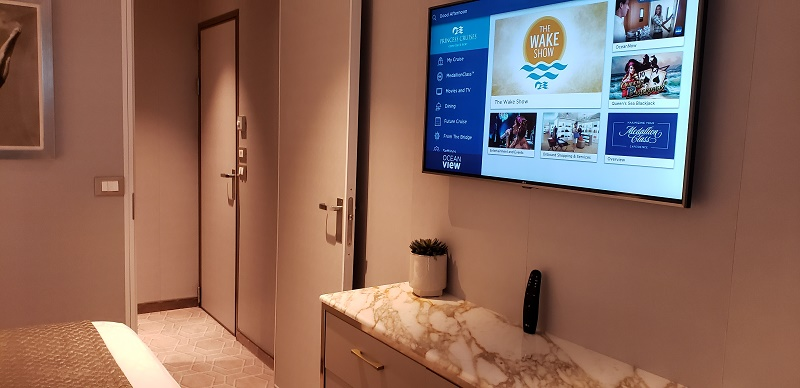 Sky Suites have four large flatscreen TVS. Photo by Susan J. Young