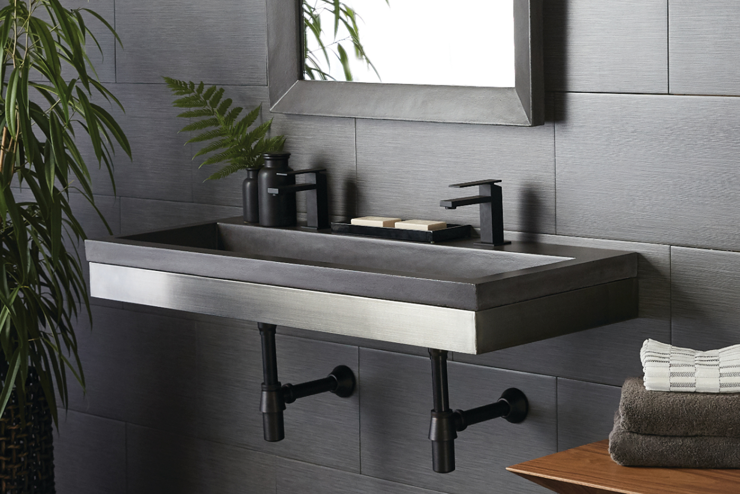 Introducing Zaca wall mount, the latest bathroom vanity from kitchen and bath manufacturer Native Trails.