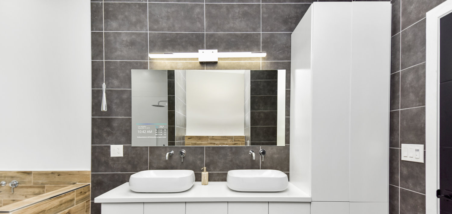 Mirror Image's smart mirrors are customizable for hotels at different price points.