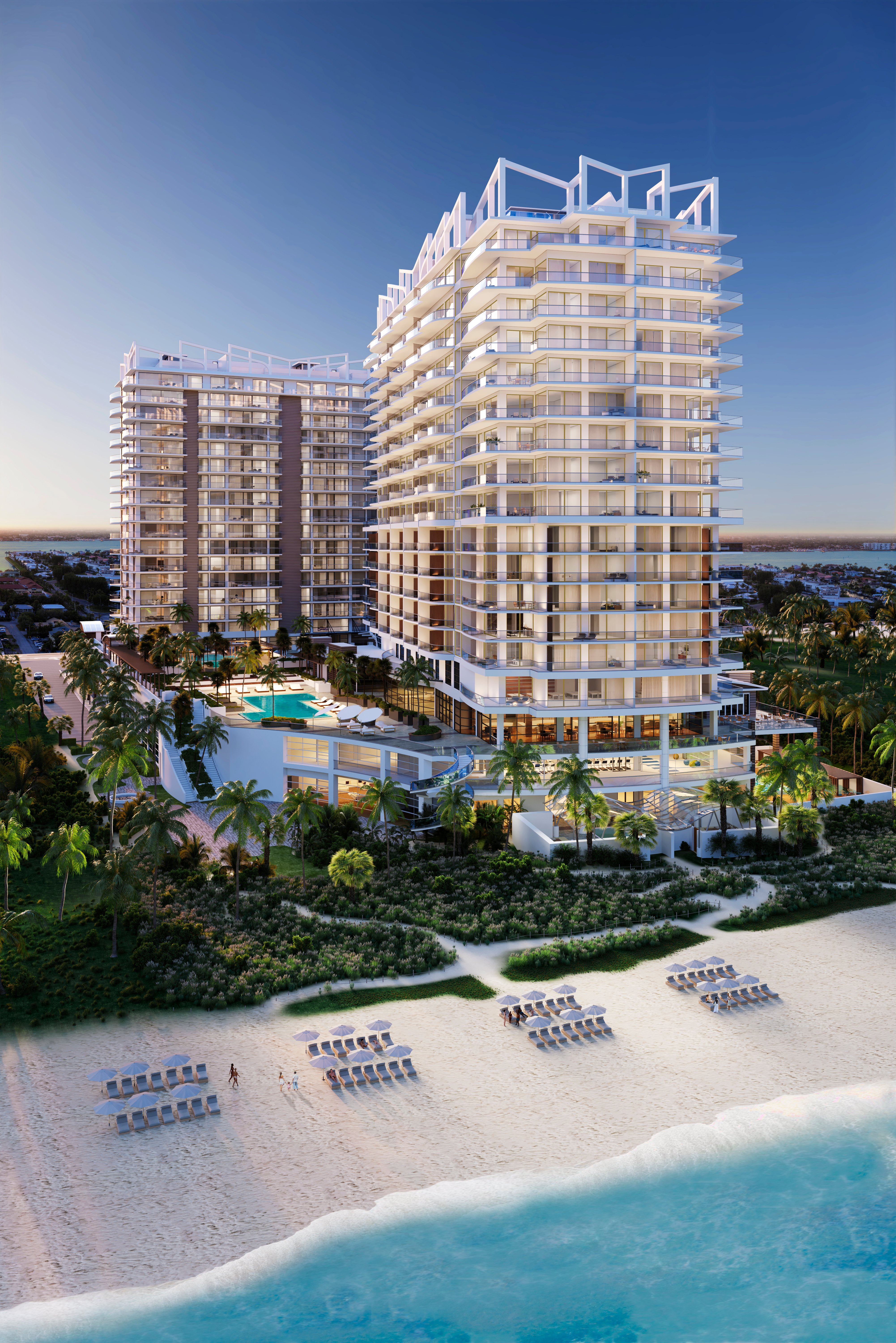 The property was built on one of the last oceanfront plots available on Singer Island.
