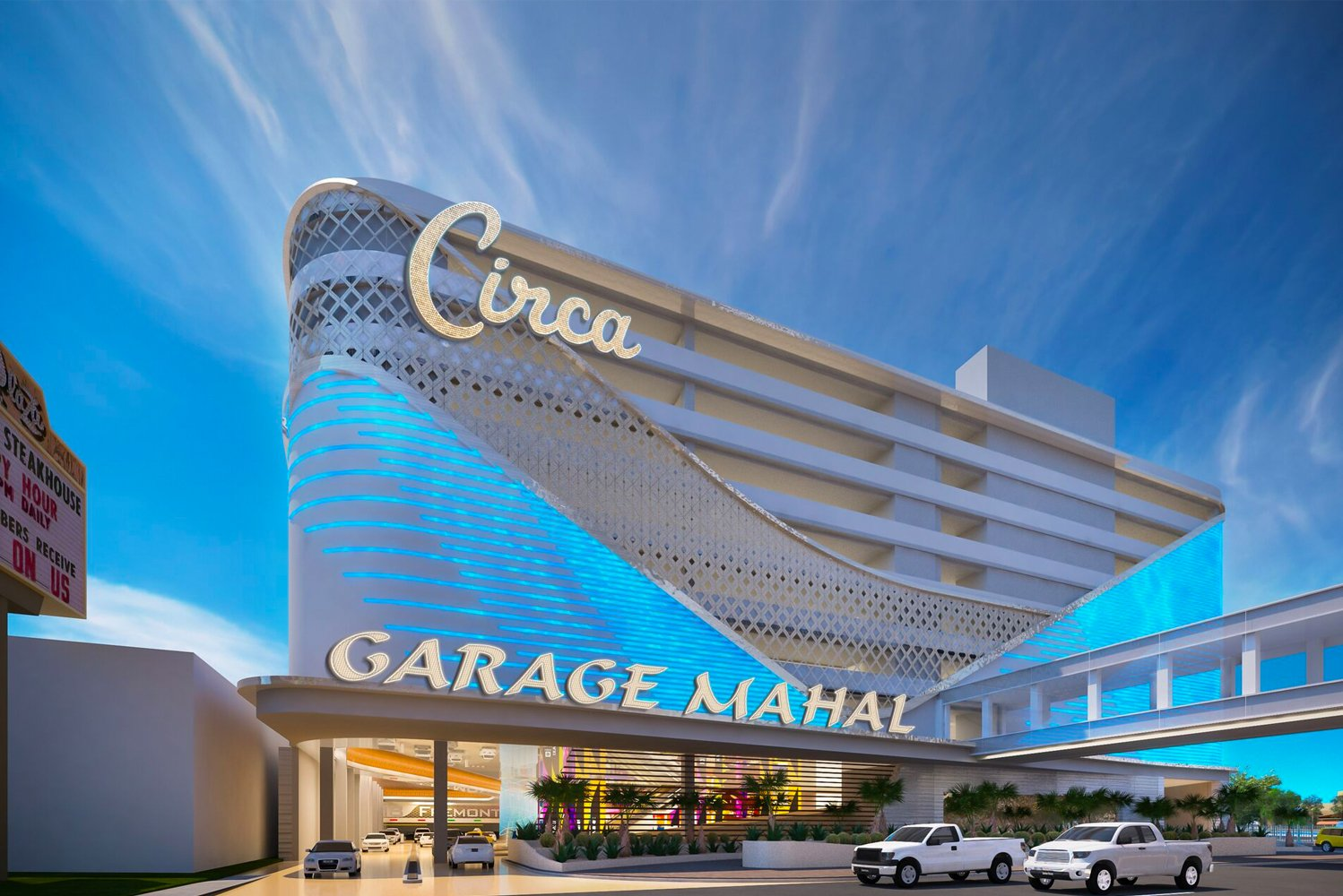 Circa Resort & Casino reached the halfway mark in its 22-month construction process.