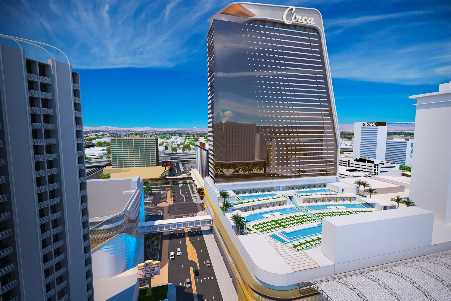 On track for a December 2020 opening, the project will be the first ground-up gaming resort in historic Downtown Las Vegas since 1980.