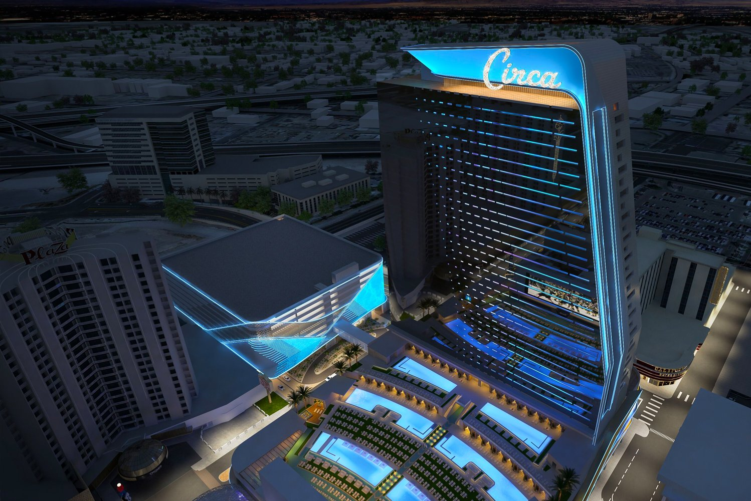 Capitalizing on the sunny Las Vegas weather, one of Circa's key features will be an outdoor pool amphitheater.