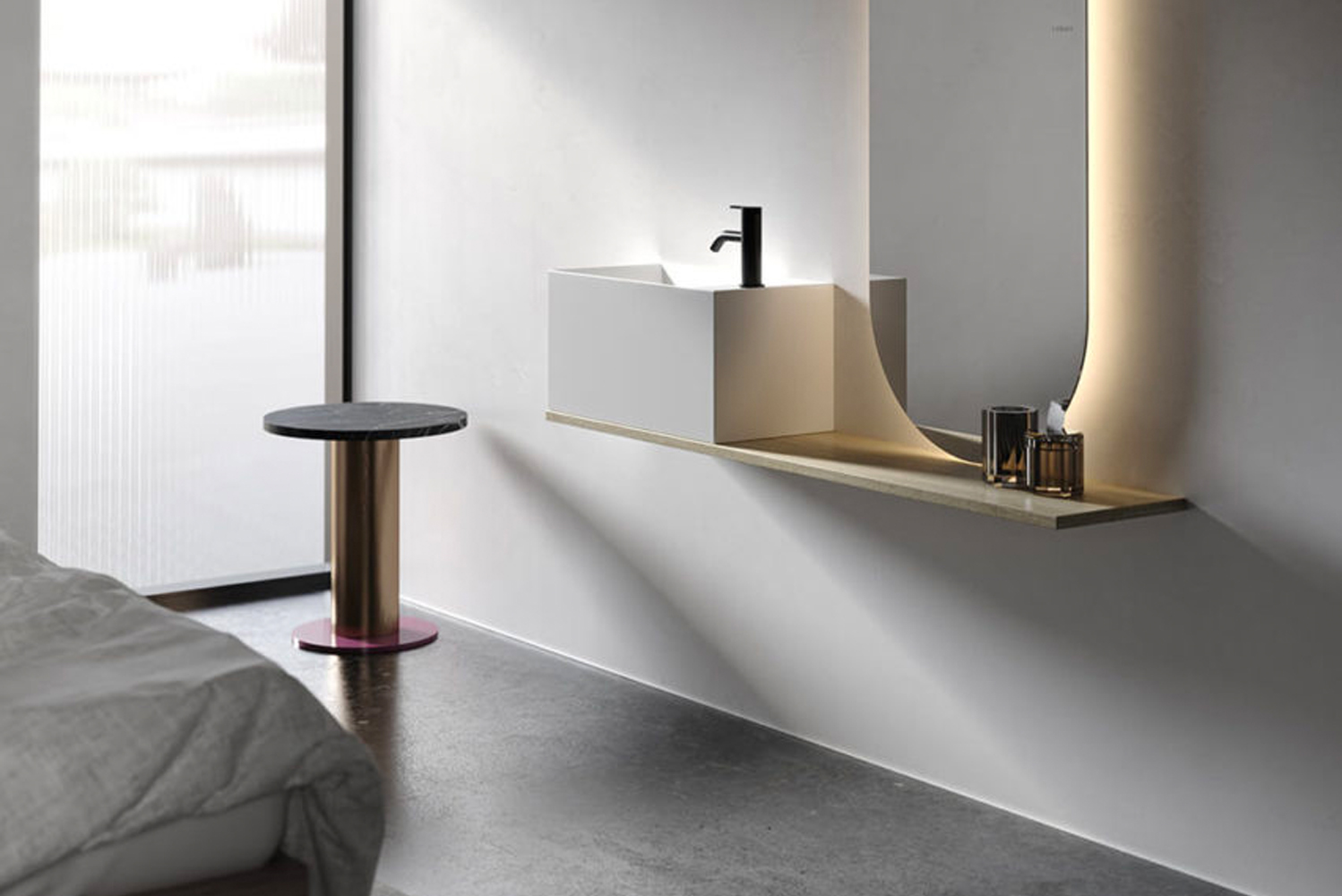 Inbani announced Facett, a washbasin for small spaces.