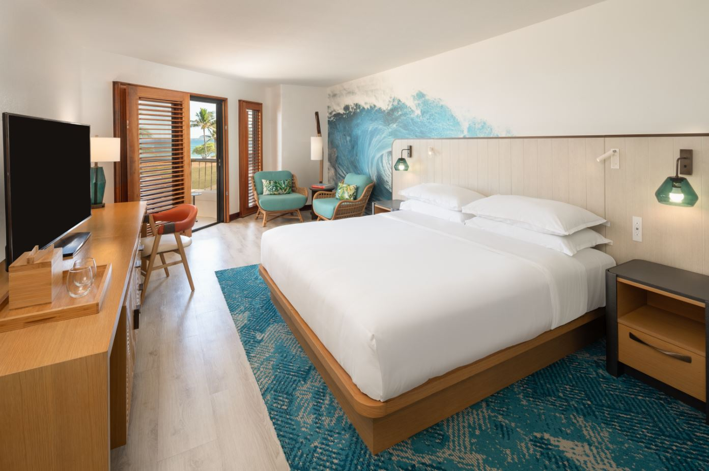Gensler's color scheme for the rebranded resort evoked the colors of the island.