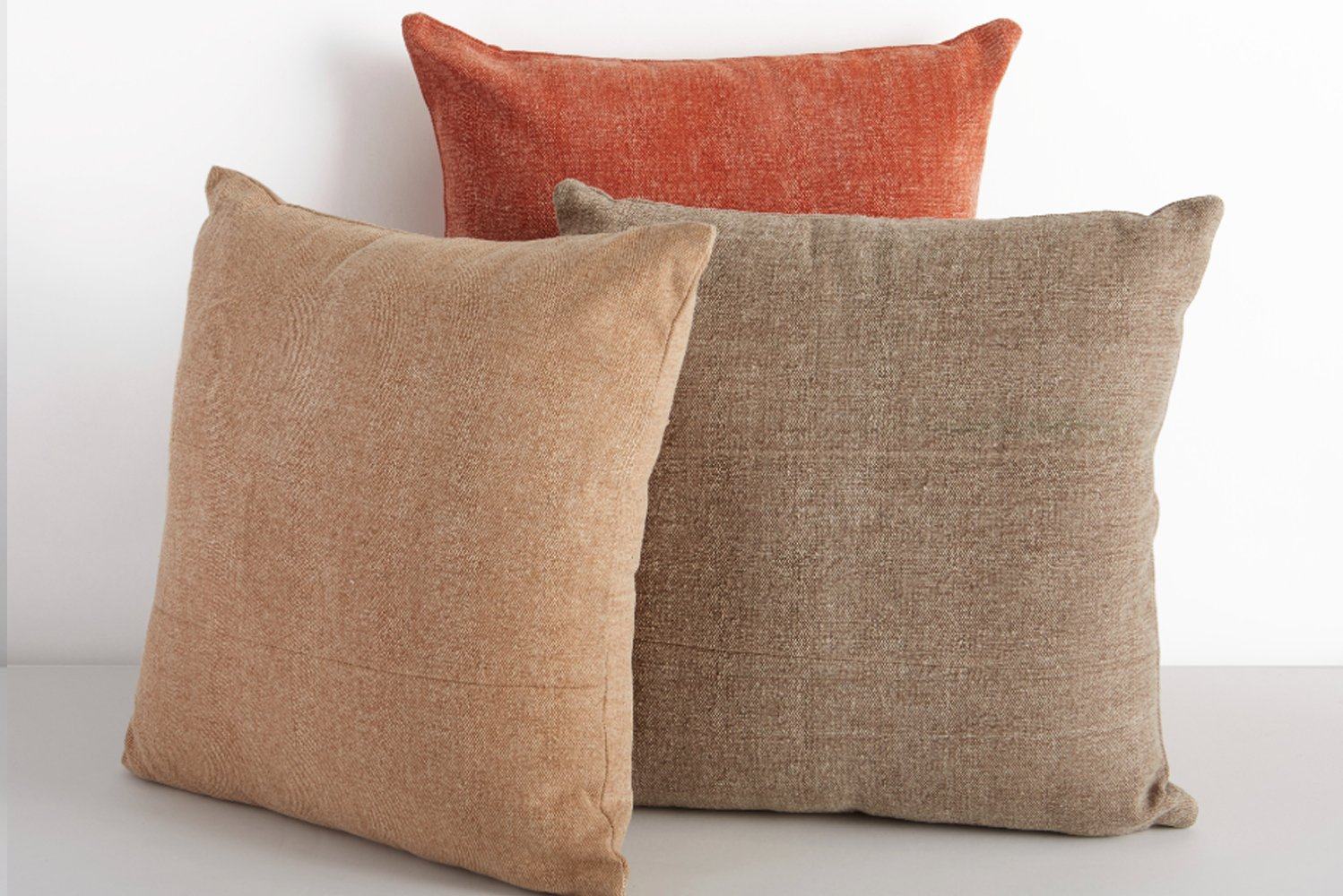 Made from classic cotton, the Hatch pillow comes in an assortment of neutral shades—ideal for any interior design palette.
