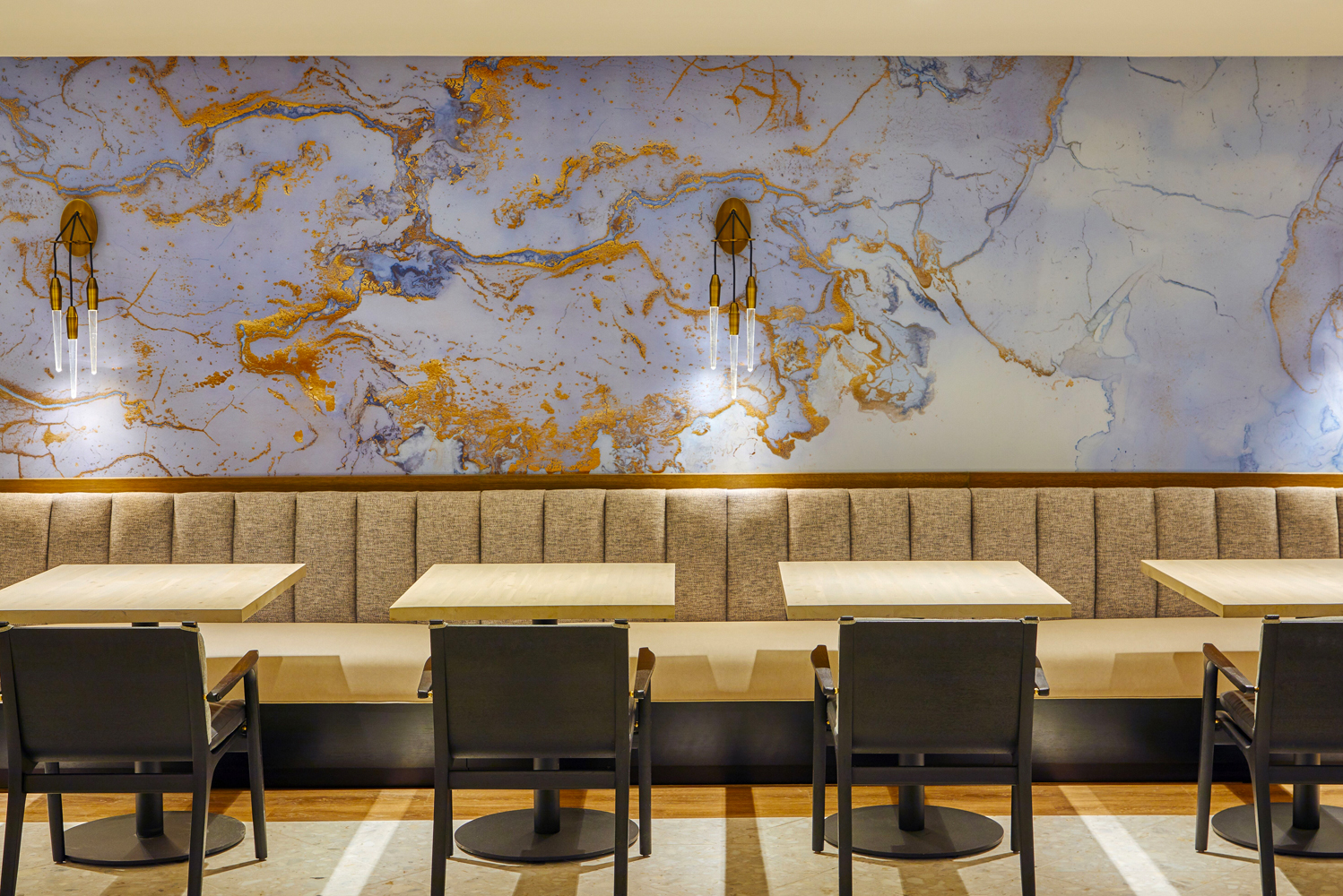 "Kostali—""coastal"" in Maltese—opened in the fifth-floor lobby of The Gwen, A Luxury Collection Hotel in the heart of Chicago."