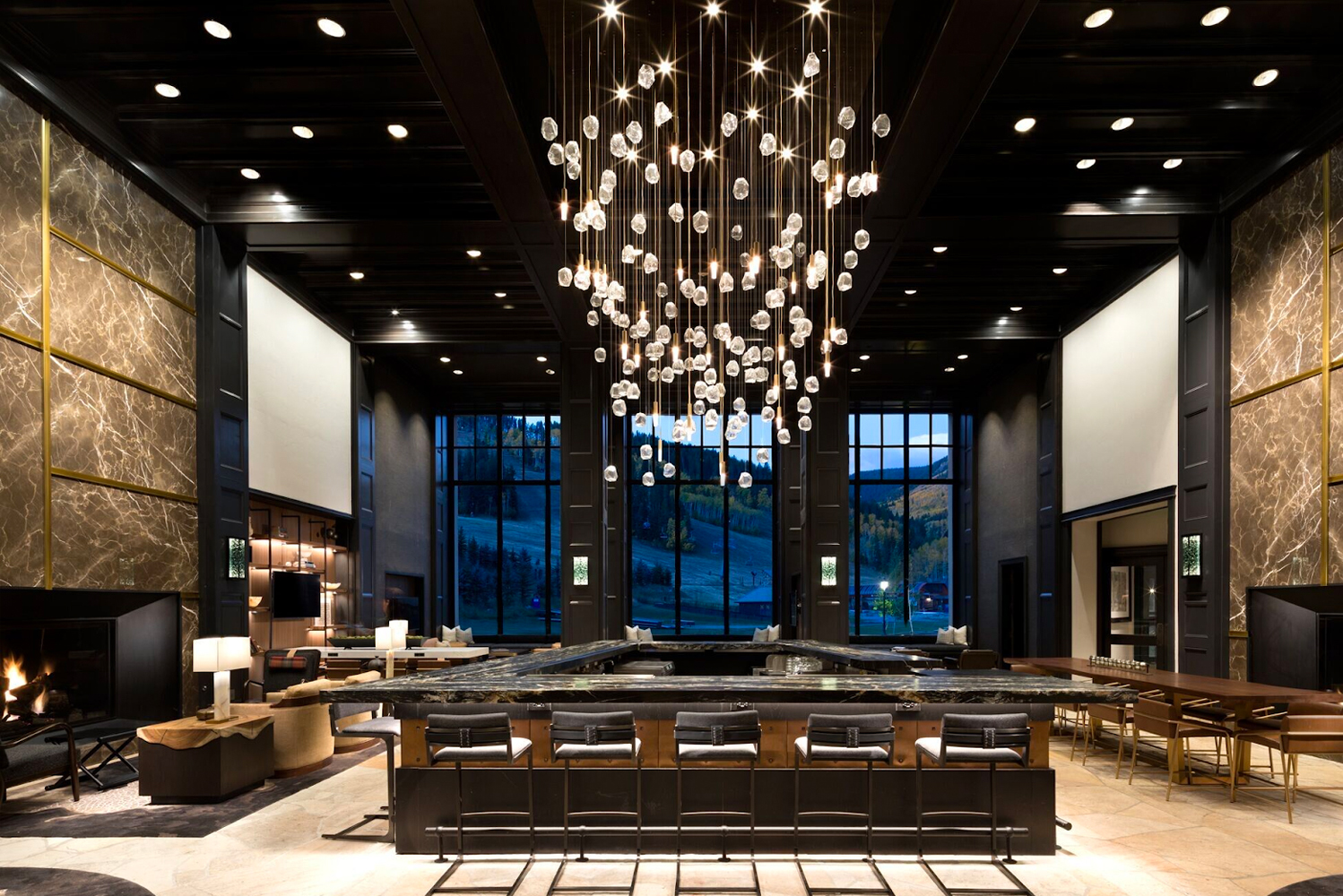 Premier Project Management was tasked with interior design, project management, procurement and food service equipment design for the reception, lobby, bar and market areas.