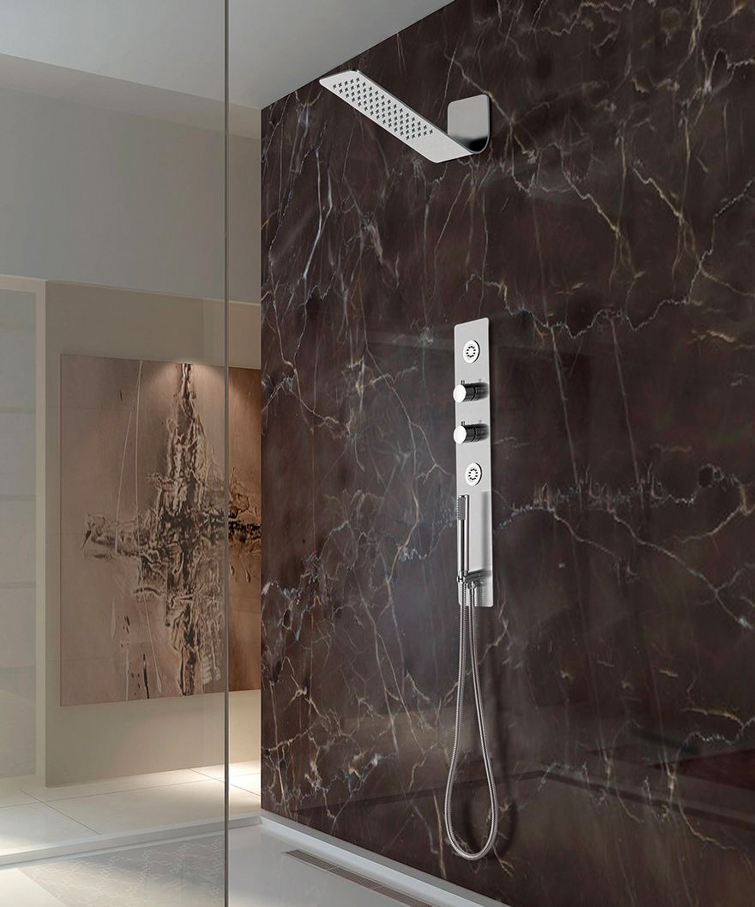 Lenova launched its Thermostatic shower system.
