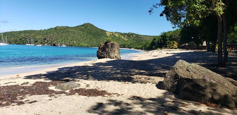 Chatham Bay along Union Island, St. Vincent and the Grenadines is an island paradise. Photo by Susan J. Young.