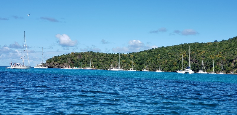 Chatham Bay is a  yachting playground. Photo by Susan J. Young
