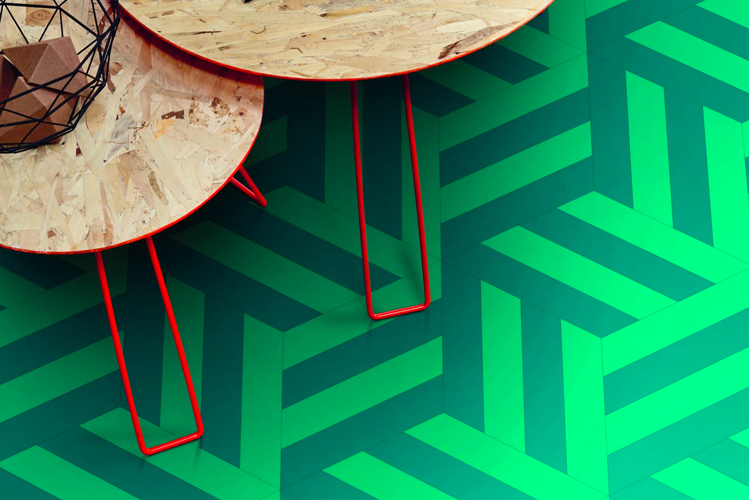 Tarkett introduced iD Mixonomi, flooring collection inspired by the hexagon.