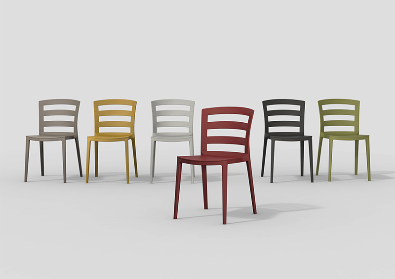 The chairs are available in six trending but muted tones.