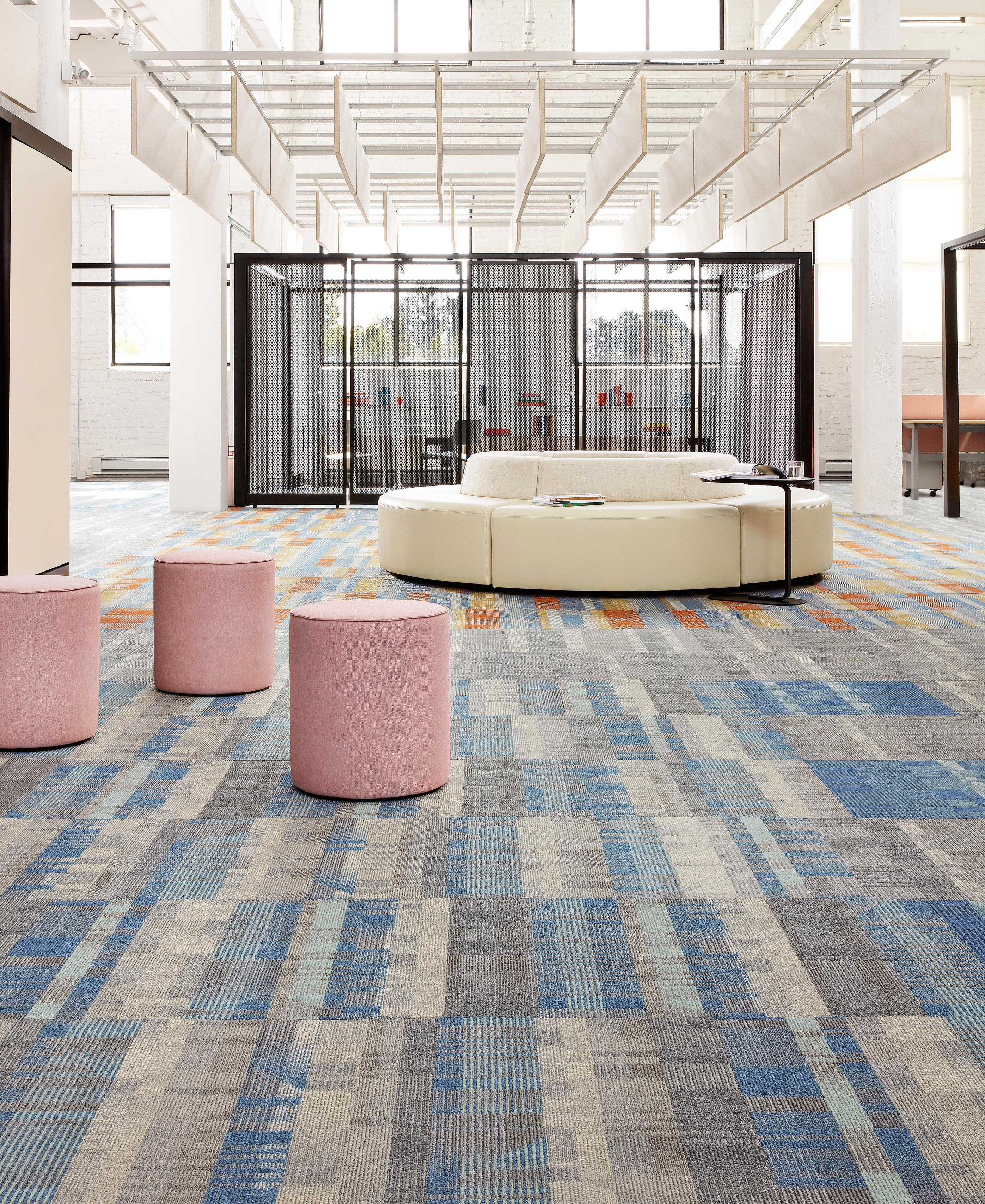 The Campus carpet tile collection was inspired by the Bauhaus aesthetic.