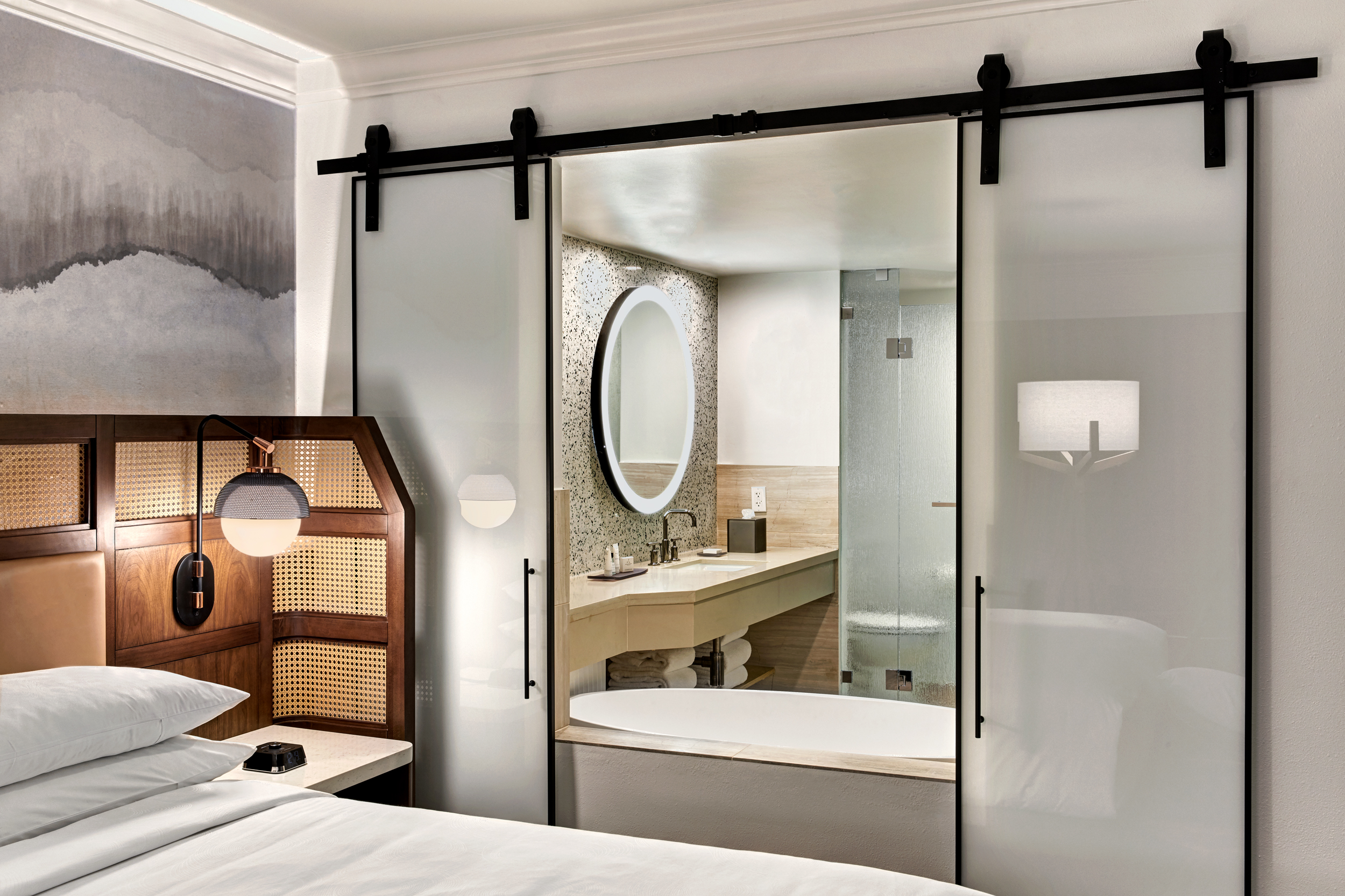 More than 300 of the rooms have freestandingcontemporary soaking tubs.